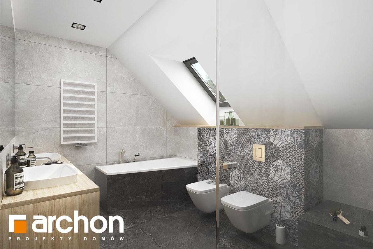 Проект будинку ARCHON+ Будинок в смарагдах 4 (Г) візуалізація ванни (візуалізація 3 від 1)