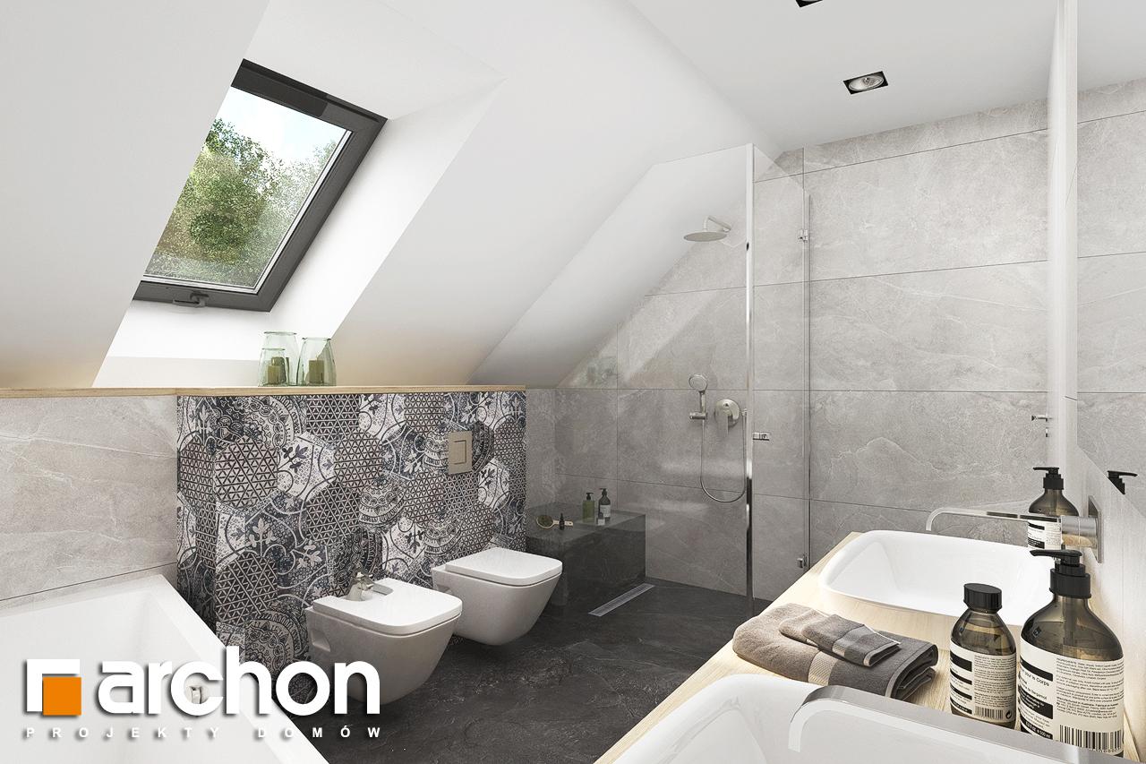 Проект будинку ARCHON+ Будинок в смарагдах 4 (Г) візуалізація ванни (візуалізація 3 від 2)