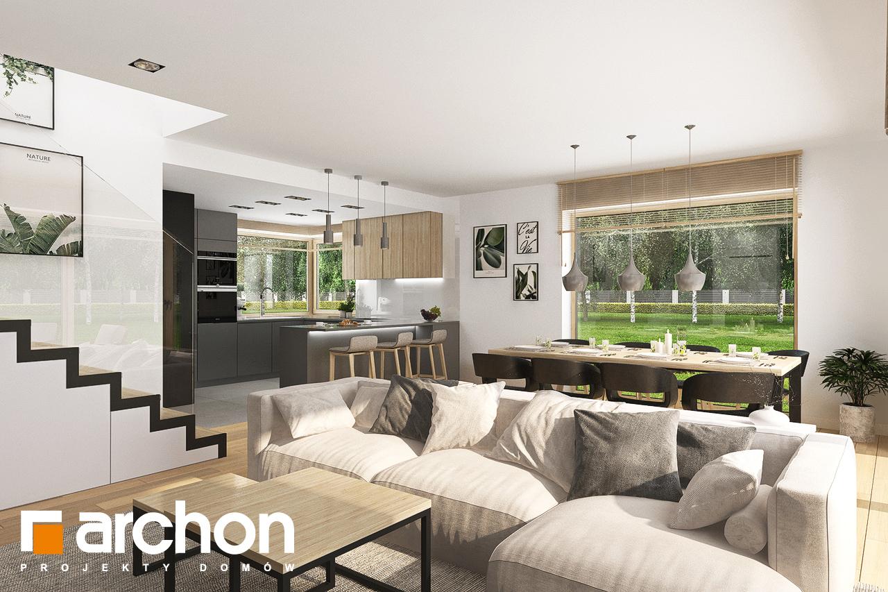Проект будинку ARCHON+ Будинок в смарагдах 4 (Г) денна зона (візуалізація 1 від 3)