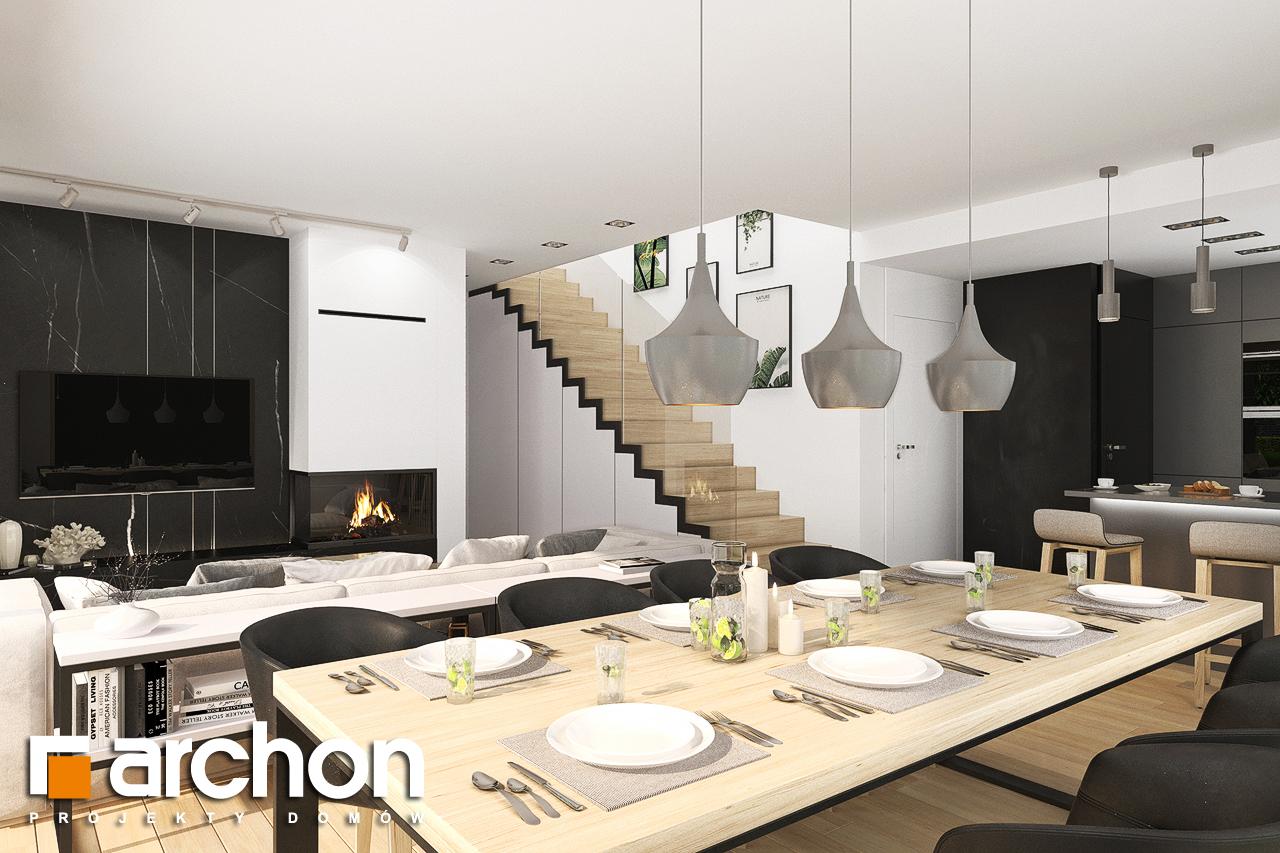 Проект будинку ARCHON+ Будинок в смарагдах 4 (Г) денна зона (візуалізація 1 від 4)
