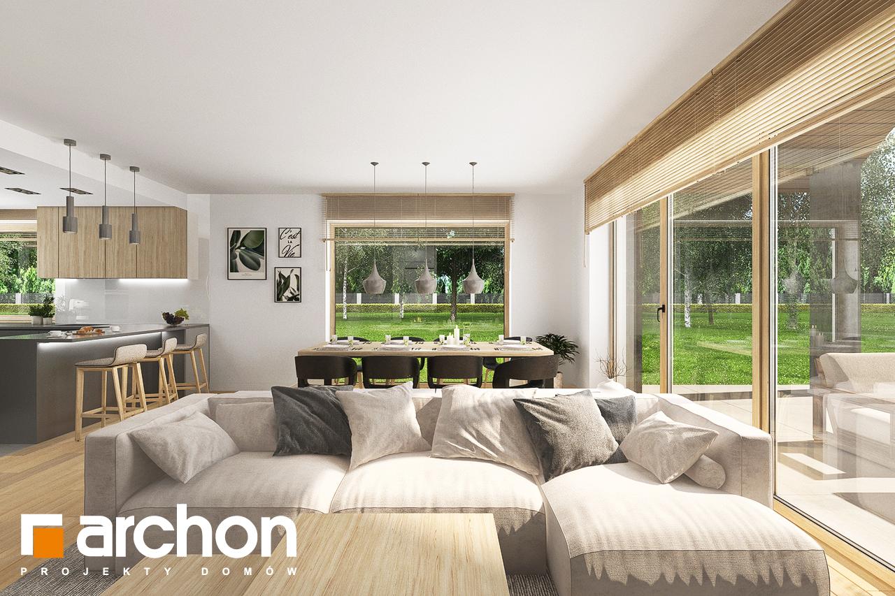Проект будинку ARCHON+ Будинок в смарагдах 4 (Г) денна зона (візуалізація 1 від 6)