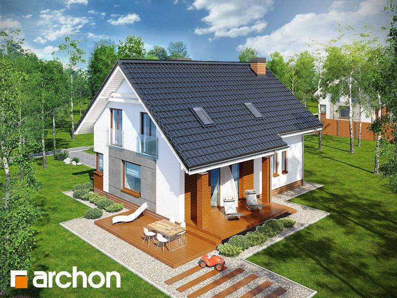 Проект будинку ARCHON+ Будинок в яблонках додаткова візуалізація