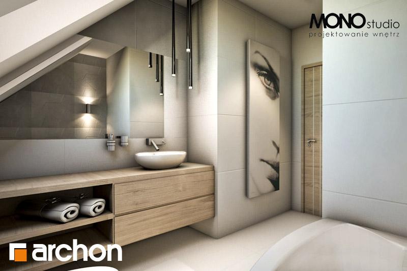Проект будинку ARCHON+ Будинок в яблонках візуалізація ванни (візуалізація 1 від 1)