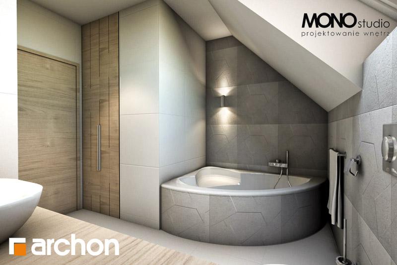 Проект будинку ARCHON+ Будинок в яблонках візуалізація ванни (візуалізація 1 від 2)