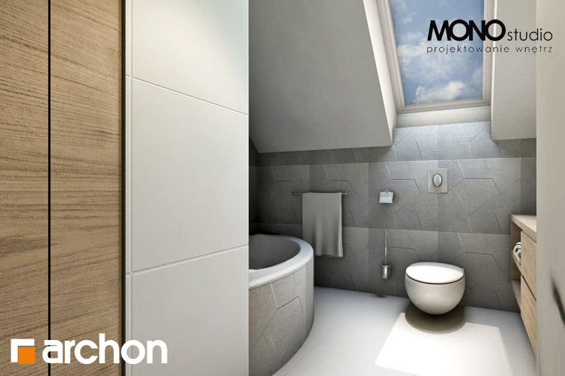 Проект будинку ARCHON+ Будинок в яблонках візуалізація ванни (візуалізація 1 від 4)
