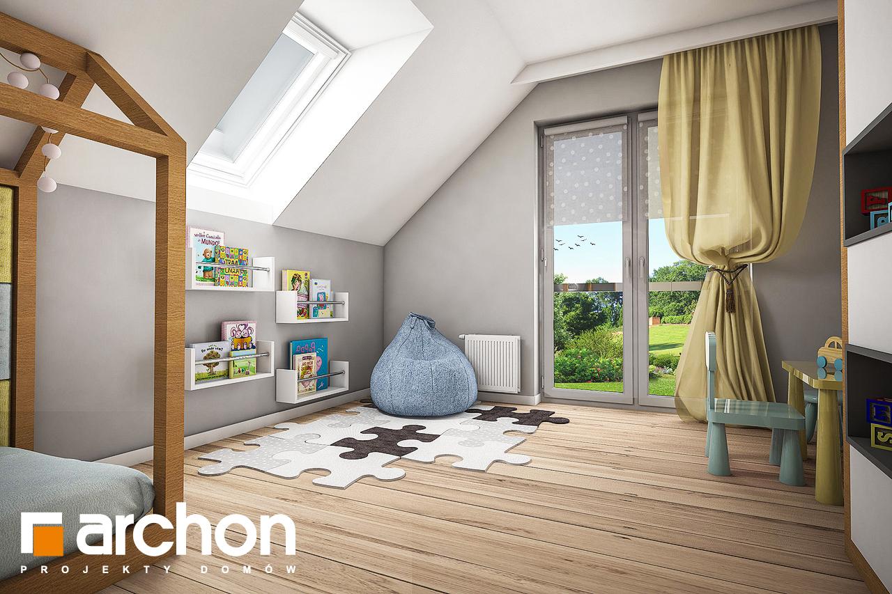 Проект будинку ARCHON+ Будинок в яблонках нічна зона (візуалізація 2 від 3)
