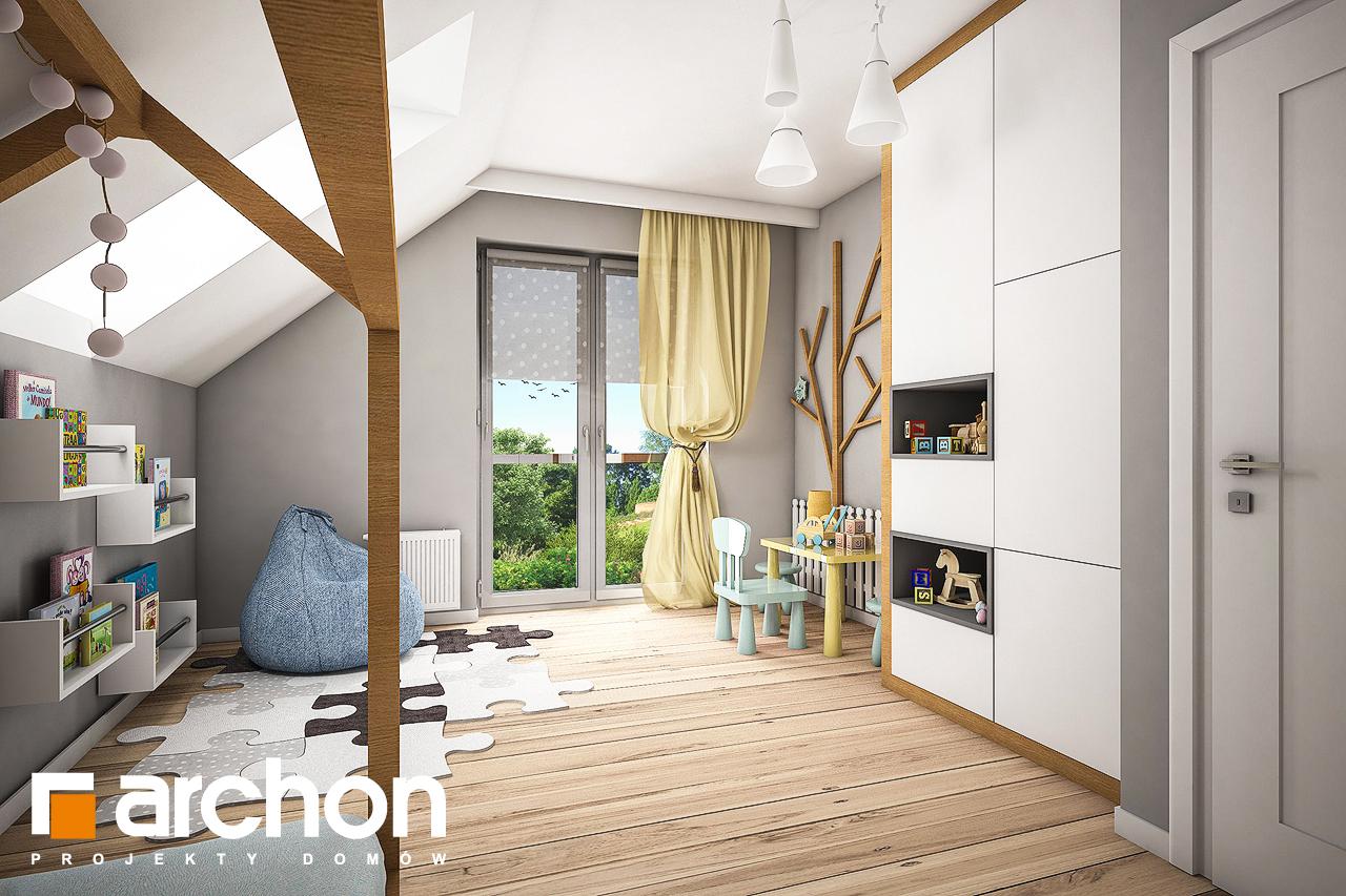 Проект будинку ARCHON+ Будинок в яблонках нічна зона (візуалізація 2 від 4)