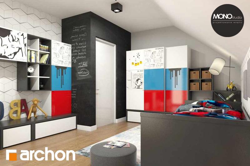 Проект будинку ARCHON+ Будинок в яблонках нічна зона (візуалізація 3 від 2)