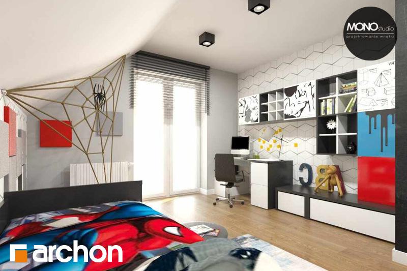 Проект будинку ARCHON+ Будинок в яблонках нічна зона (візуалізація 3 від 3)
