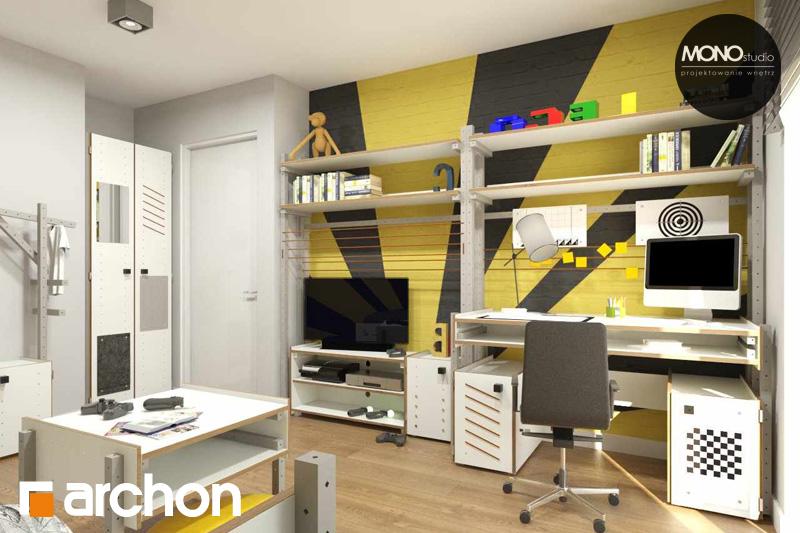 Проект будинку ARCHON+ Будинок в яблонках нічна зона (візуалізація 3 від 6)
