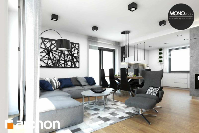Проект будинку ARCHON+ Будинок в яблонках денна зона (візуалізація 2 від 3)