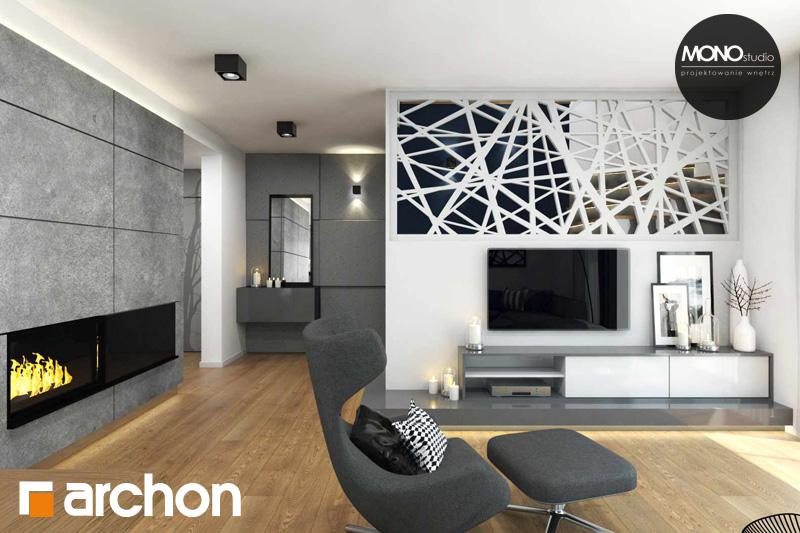 Проект будинку ARCHON+ Будинок в яблонках денна зона (візуалізація 2 від 7)