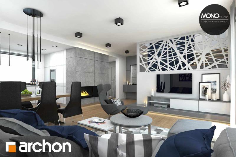 Проект будинку ARCHON+ Будинок в яблонках денна зона (візуалізація 2 від 8)