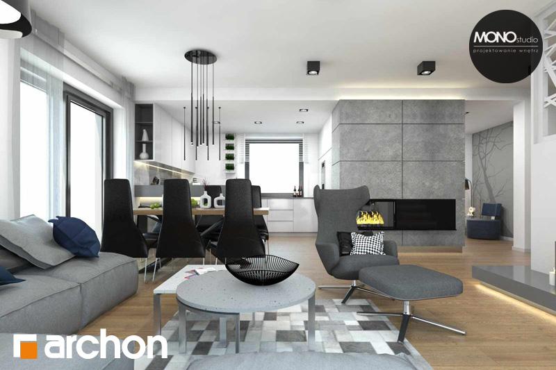 Проект будинку ARCHON+ Будинок в яблонках денна зона (візуалізація 2 від 10)