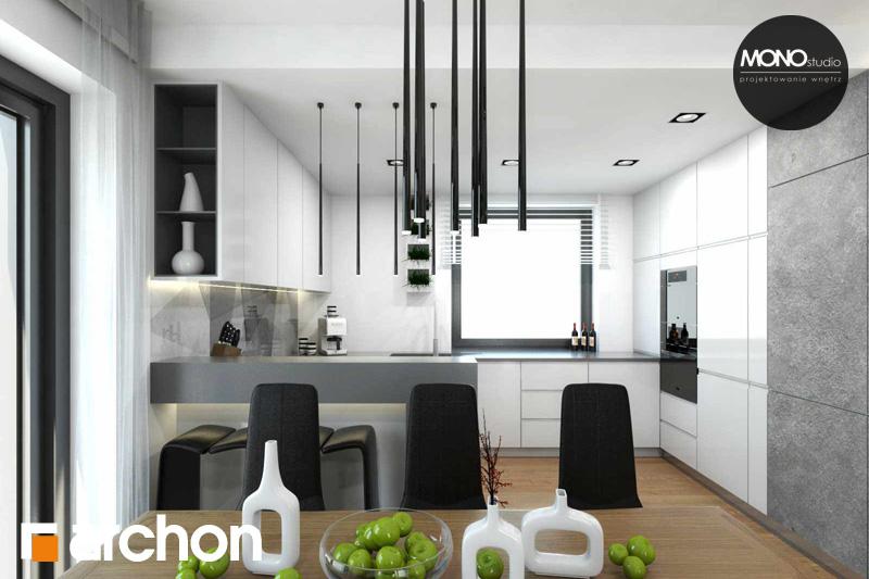 Проект будинку ARCHON+ Будинок в яблонках денна зона (візуалізація 2 від 11)