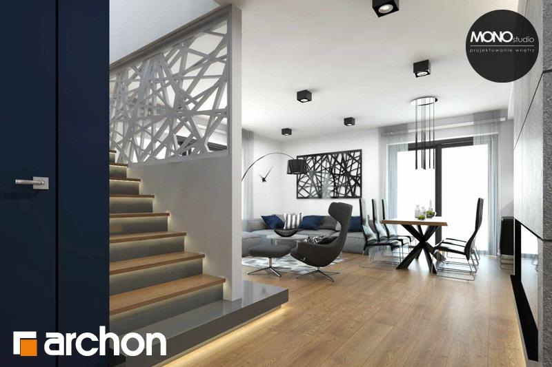 Проект будинку ARCHON+ Будинок в яблонках денна зона (візуалізація 2 від 12)