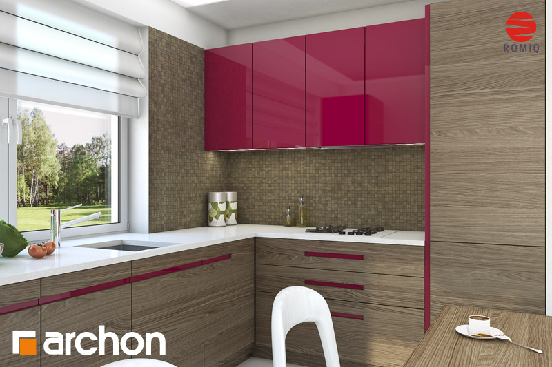 Проект будинку ARCHON+ Будинок в хлорофітумі (Г) візуалізація кухні 1 від 2