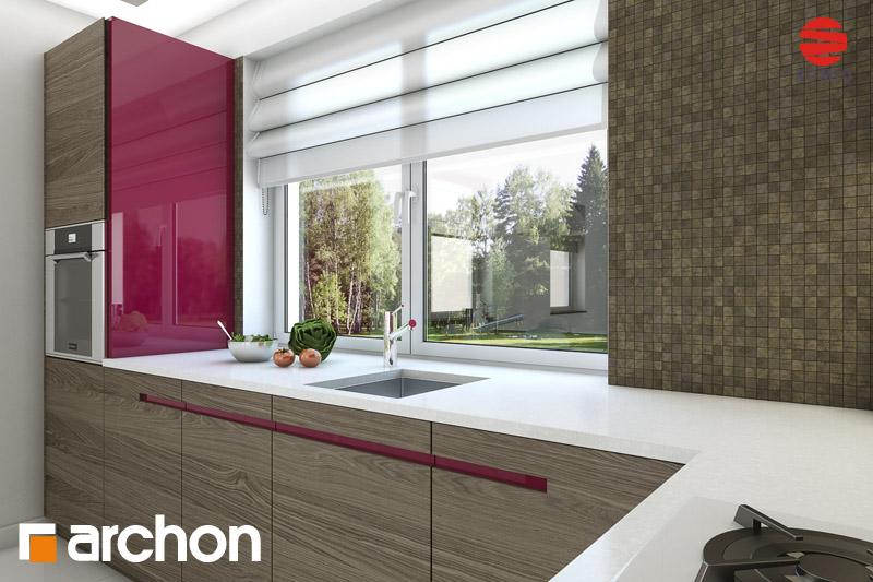 Проект будинку ARCHON+ Будинок в хлорофітумі (Г) візуалізація кухні 1 від 3
