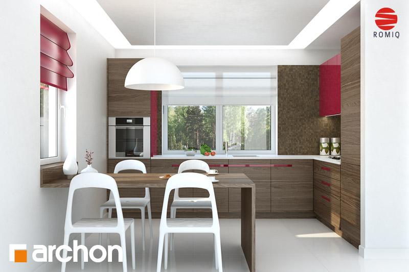 Проект будинку ARCHON+ Будинок в хлорофітумі (Г) візуалізація кухні 1 від 1