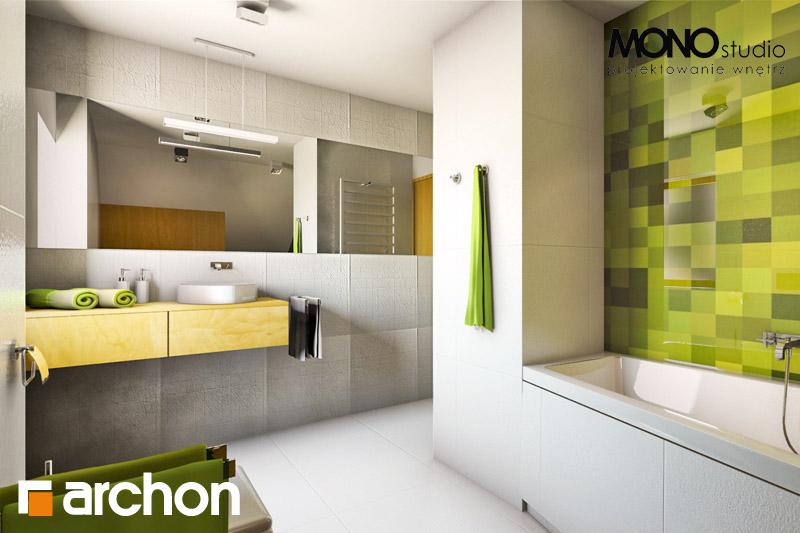 Проект будинку ARCHON+ Будинок в хлорофітумі (Г) візуалізація ванни (візуалізація 3 від 1)