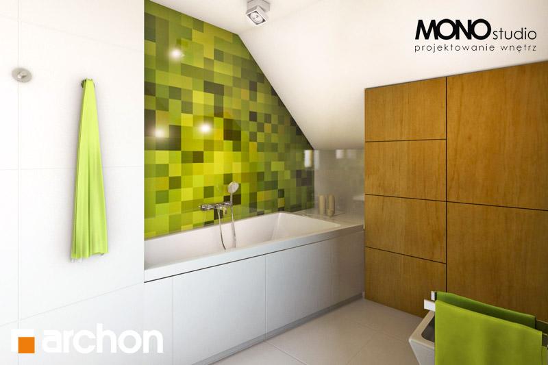 Проект будинку ARCHON+ Будинок в хлорофітумі (Г) візуалізація ванни (візуалізація 3 від 2)