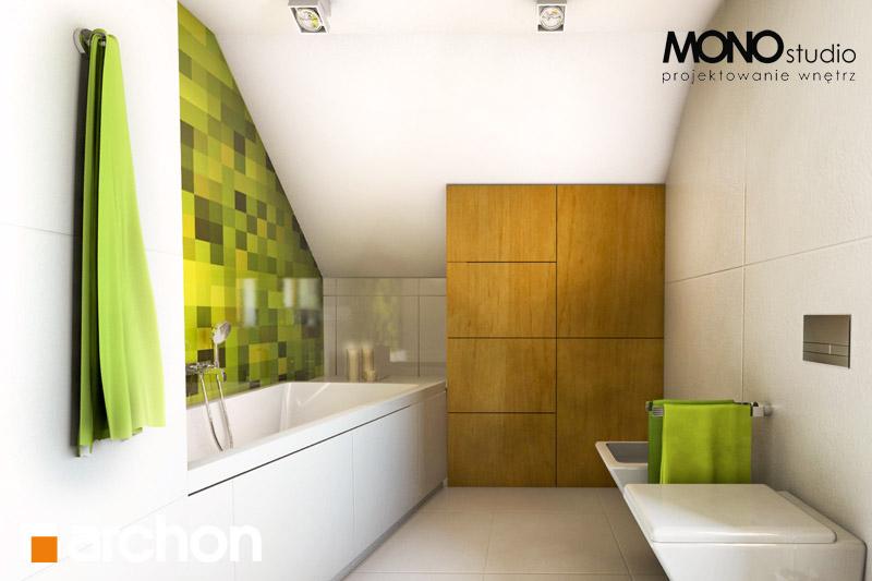 Проект будинку ARCHON+ Будинок в хлорофітумі (Г) візуалізація ванни (візуалізація 3 від 3)