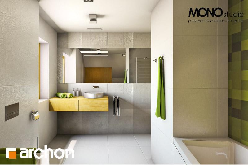 Проект будинку ARCHON+ Будинок в хлорофітумі (Г) візуалізація ванни (візуалізація 3 від 4)