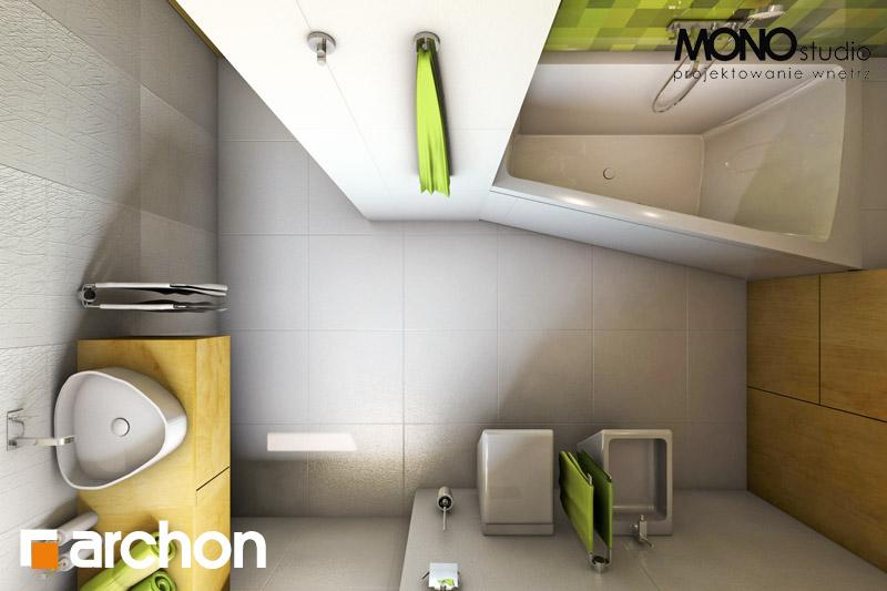 Проект будинку ARCHON+ Будинок в хлорофітумі (Г) візуалізація ванни (візуалізація 3 від 5)