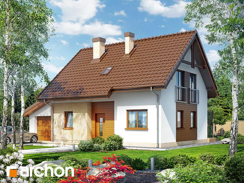Проект будинку ARCHON+ Будинок в хлорофітумі (Г) стилізація 3