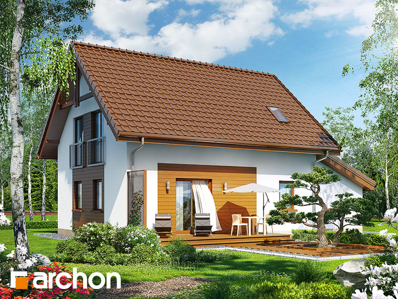 Проект будинку ARCHON+ Будинок в хлорофітумі (Г) стилізація 4