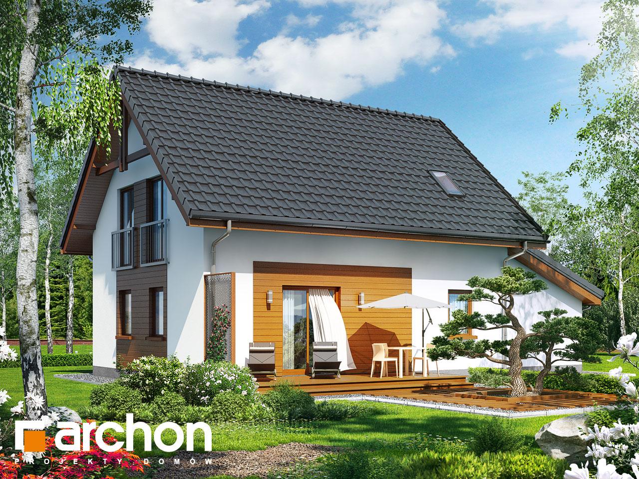 Проект будинку ARCHON+ Будинок в хлорофітумі (Г) Вид 2