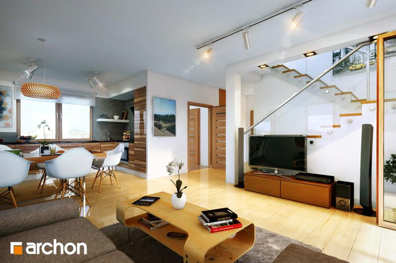 Проект будинку ARCHON+ Будинок в хлорофітумі (Г) денна зона (візуалізація 2 від 1)