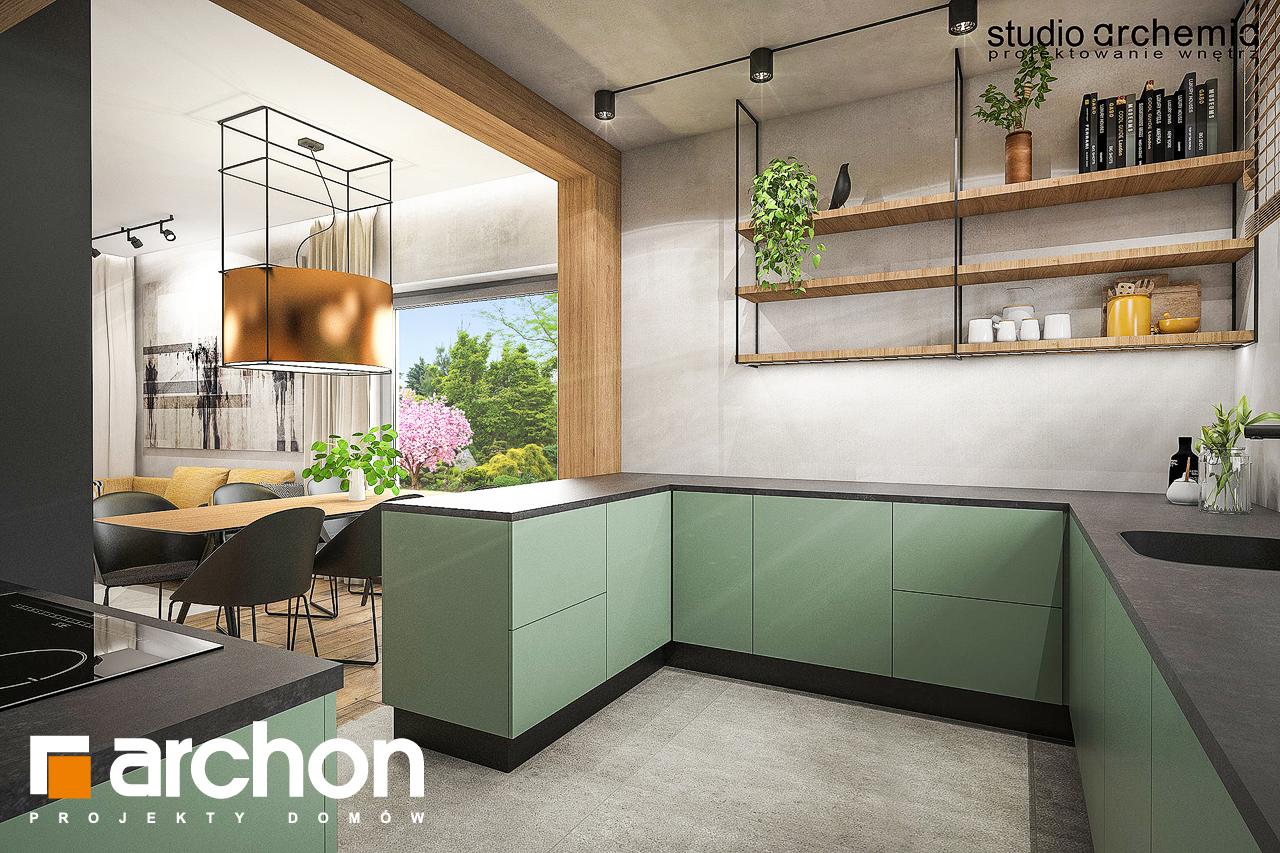 Проект будинку ARCHON+ Будинок в лещиновнику візуалізація кухні 1 від 1