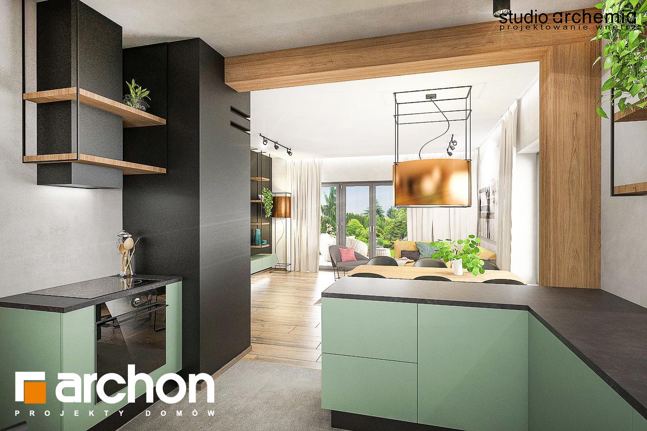 Проект будинку ARCHON+ Будинок в лещиновнику візуалізація кухні 1 від 2