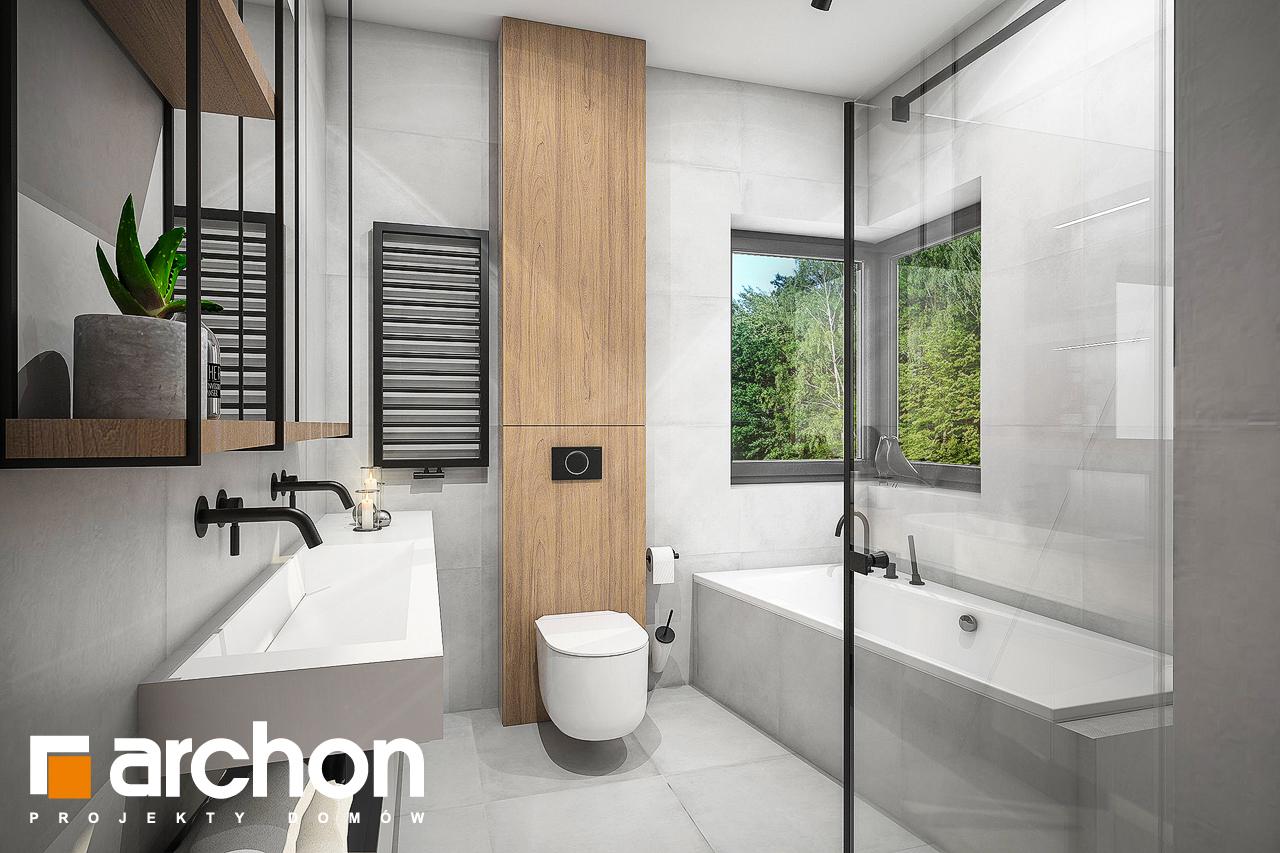 Проект будинку ARCHON+ Будинок в лещиновнику візуалізація ванни (візуалізація 3 від 1)