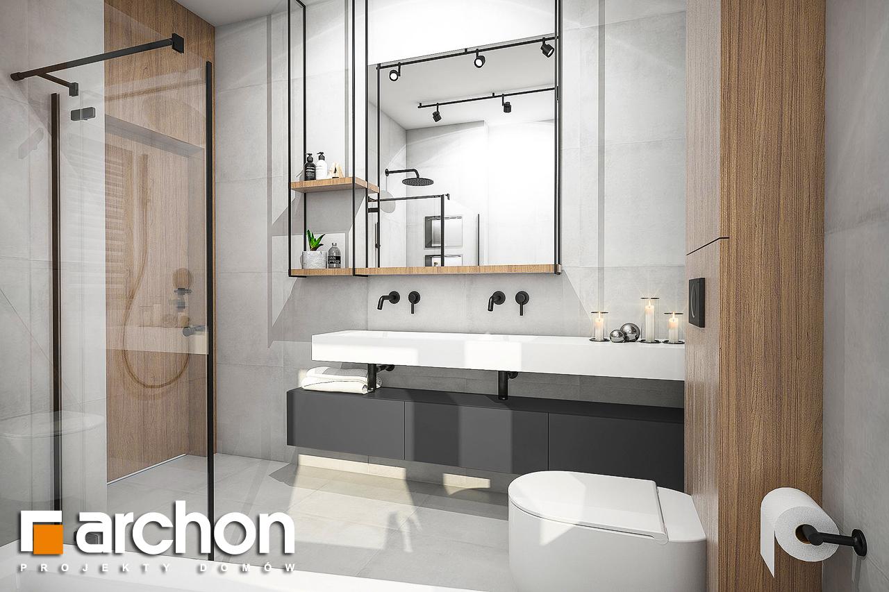 Проект будинку ARCHON+ Будинок в лещиновнику візуалізація ванни (візуалізація 3 від 3)