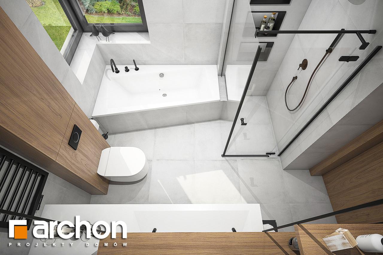 Проект будинку ARCHON+ Будинок в лещиновнику візуалізація ванни (візуалізація 3 від 4)