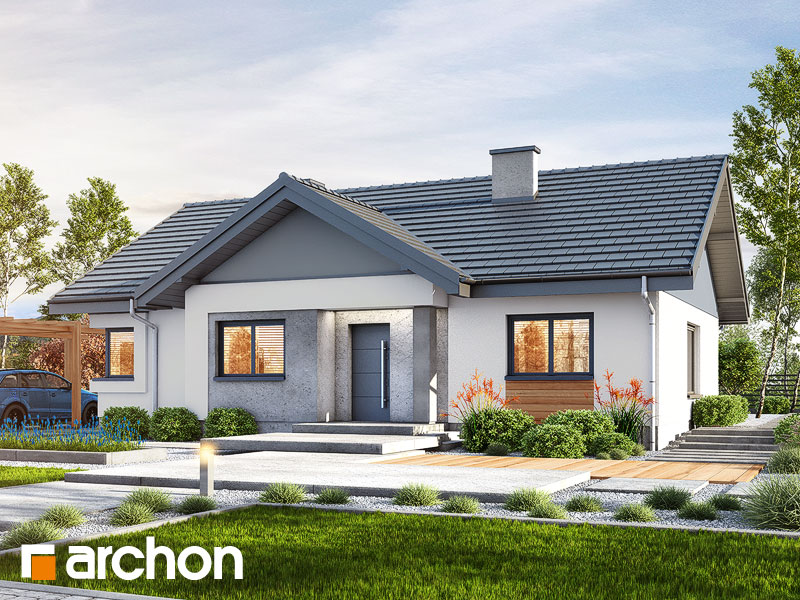 Проект будинку ARCHON+ Будинок в лещиновнику Вид 1