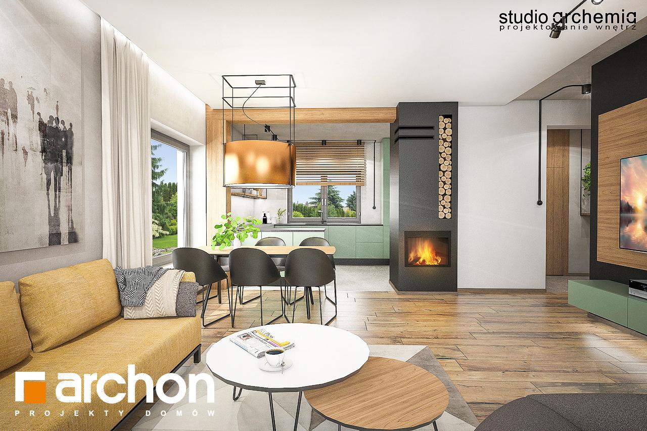 Проект будинку ARCHON+ Будинок в лещиновнику денна зона (візуалізація 1 від 1)