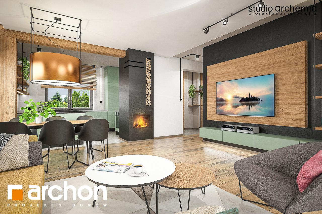 Проект будинку ARCHON+ Будинок в лещиновнику денна зона (візуалізація 1 від 2)