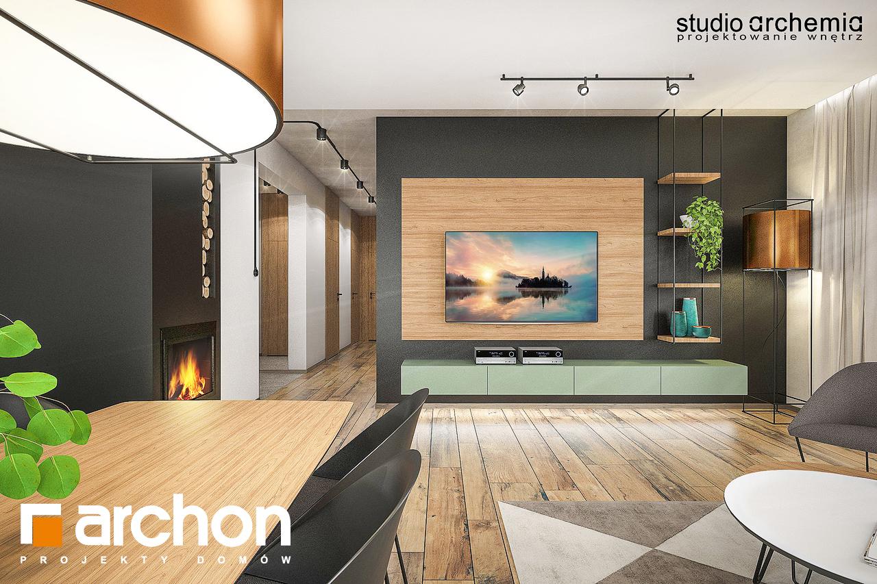 Проект будинку ARCHON+ Будинок в лещиновнику денна зона (візуалізація 1 від 3)