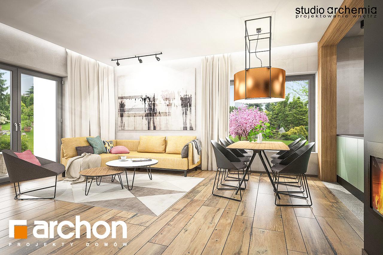 Проект будинку ARCHON+ Будинок в лещиновнику денна зона (візуалізація 1 від 5)