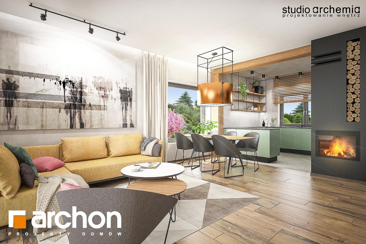 Проект будинку ARCHON+ Будинок в лещиновнику денна зона (візуалізація 1 від 6)
