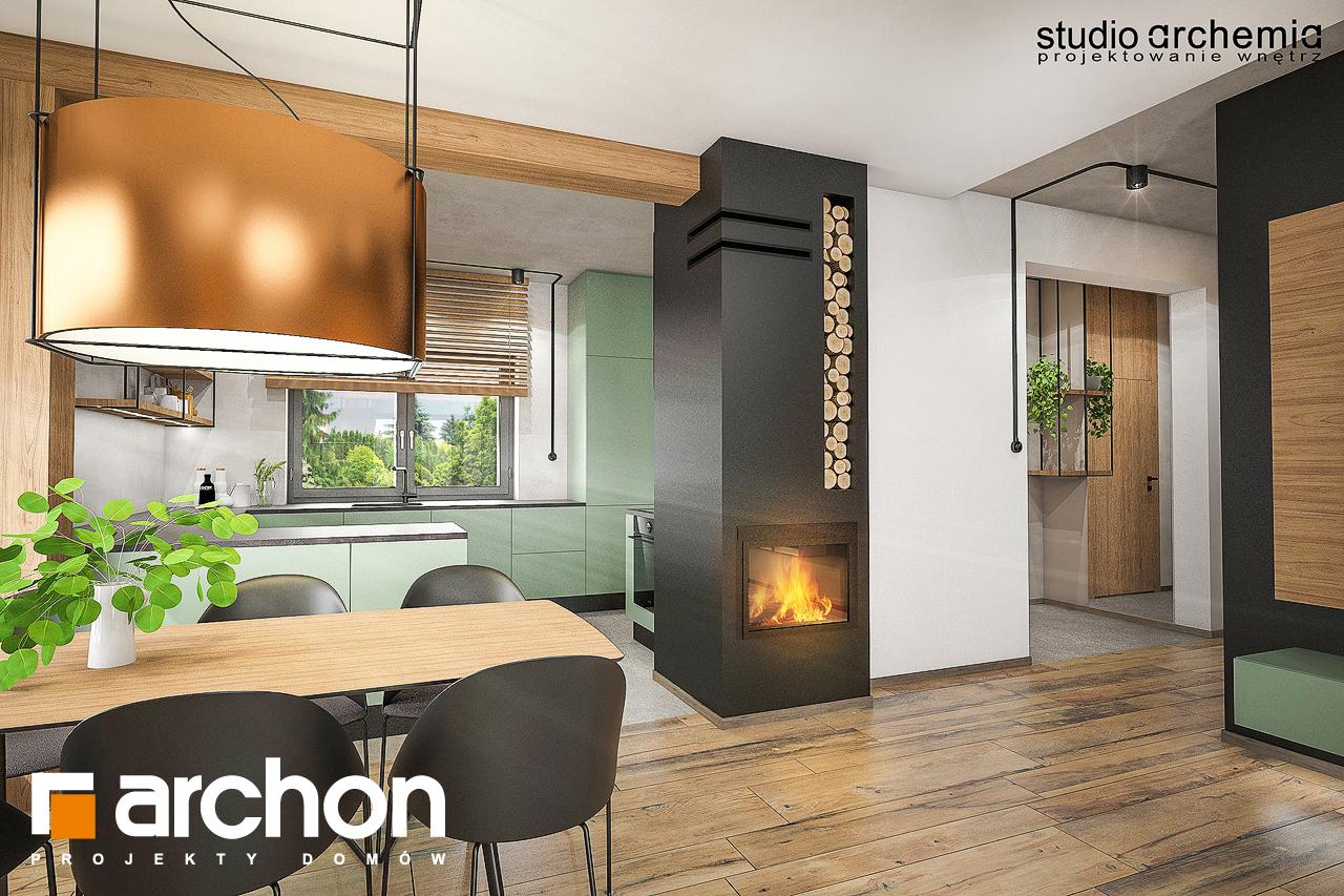 Проект будинку ARCHON+ Будинок в лещиновнику денна зона (візуалізація 1 від 7)