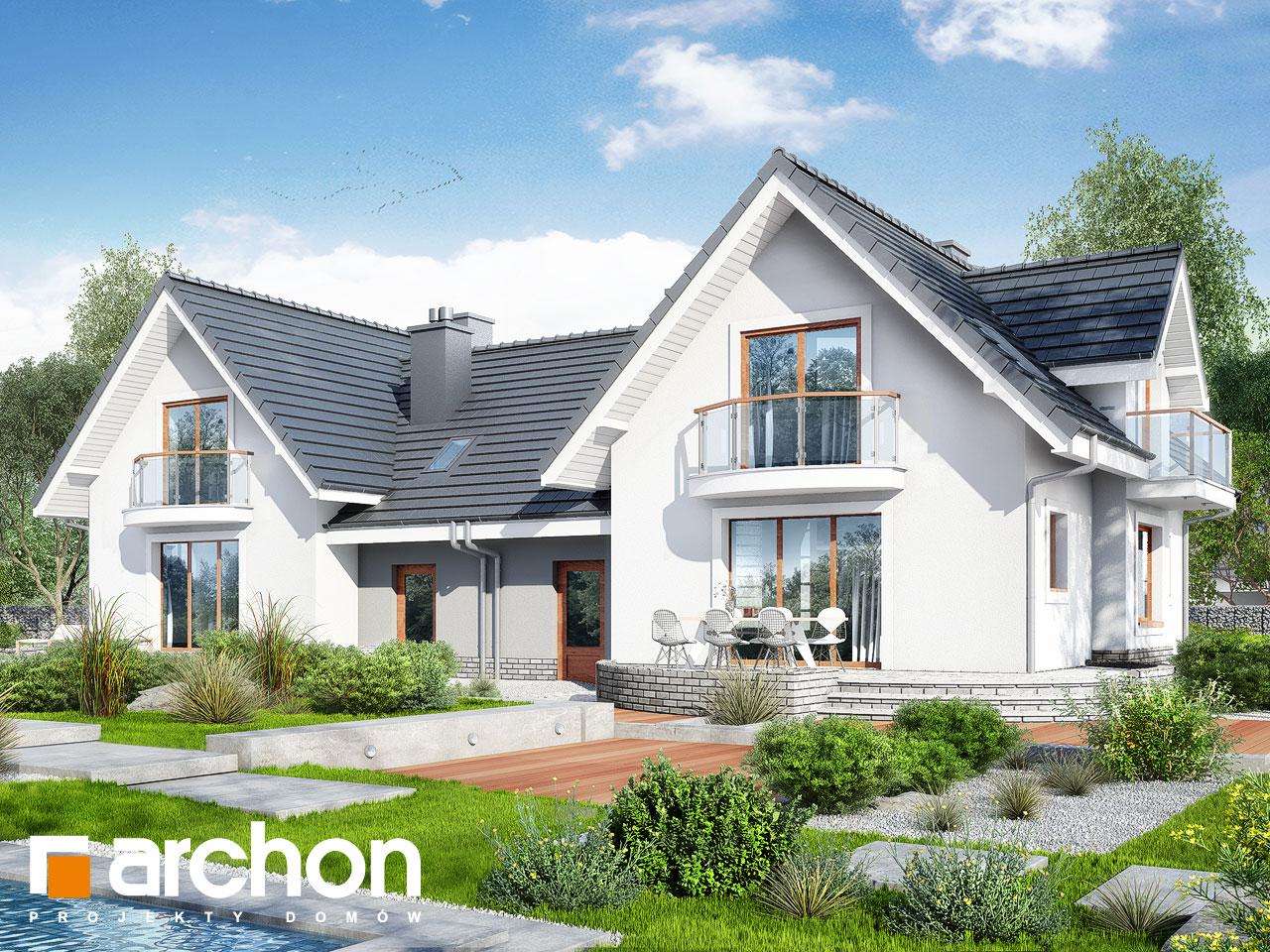 Проект дома ARCHON+ Дом в антоновке (Р2) Вид 2