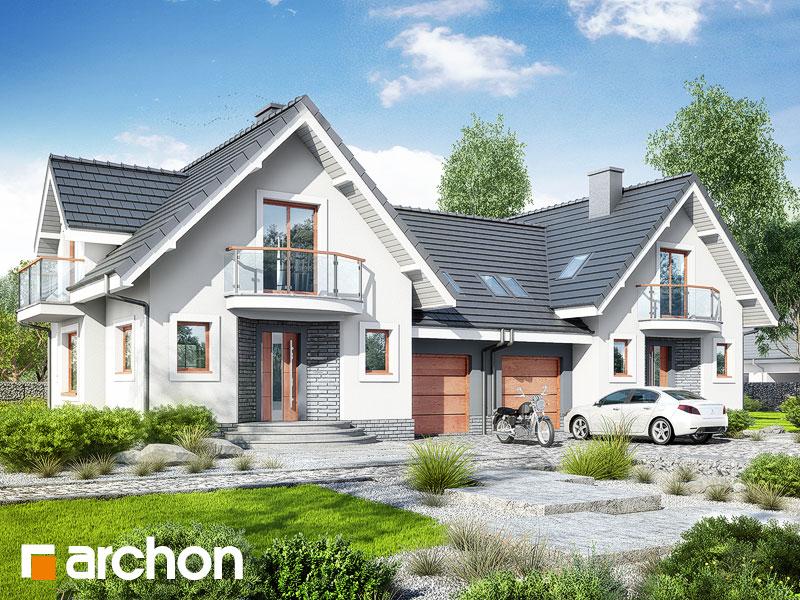 Проект дома ARCHON+ Дом в антоновке (Р2) Вид 1