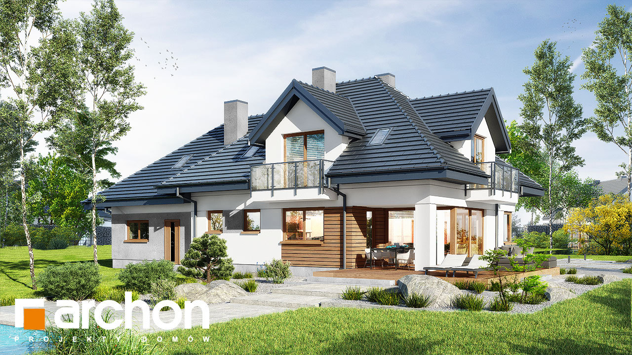 Проект будинку ARCHON+ Будинок в сливах 5 (Г2)