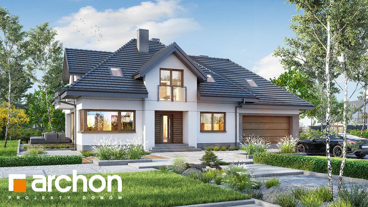 Проект дома ARCHON+ Дом в сливах 5 (Г2)