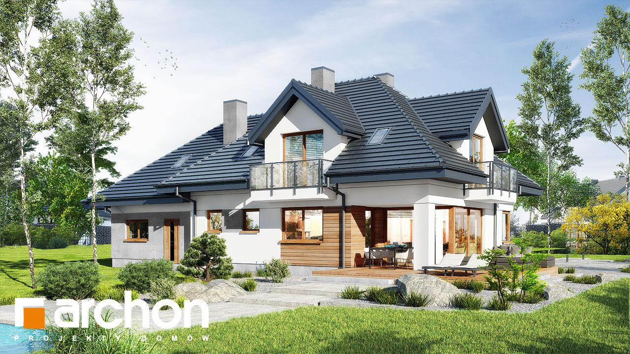 Проект будинку ARCHON+ Будинок в сливах 5 (Г2) Вид 2