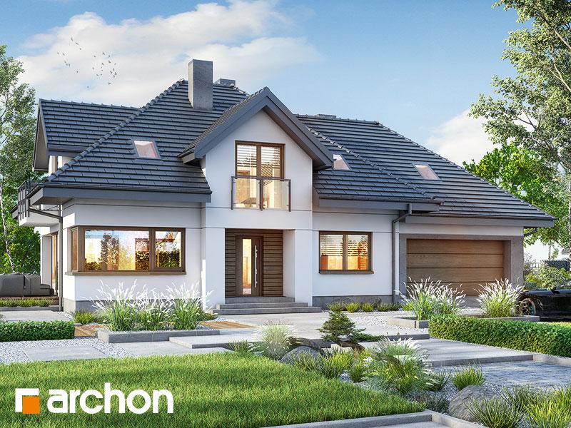 Проект дома ARCHON+ Дом в сливах 5 (Г2) Вид 1
